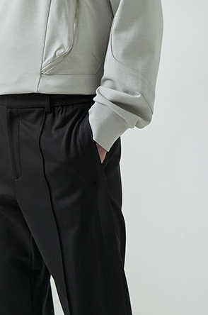 Button hem pants