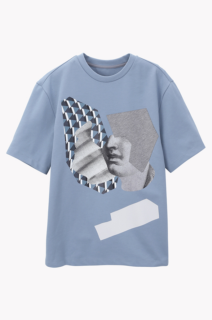 Collage printed T shirt