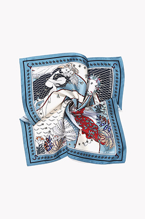 Venus illustration silk scarf