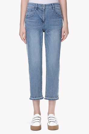 Side color line jeans
