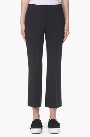 Straight stretch crop pants