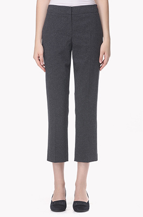 Color line waist micro check pants