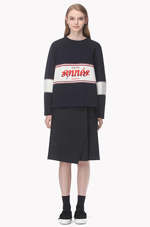 [20th] Embroidery color line lettering sweatshirt
