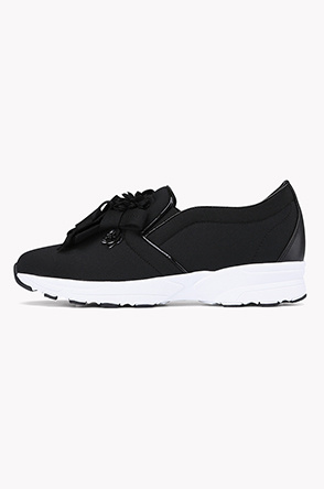 Applique neoprene slip on sneakers