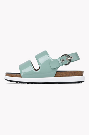 Patent leather strap sandals