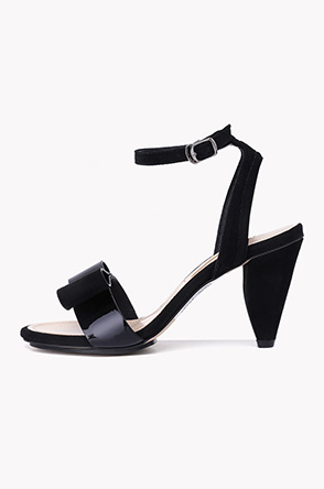 French heel ankle strap sandals