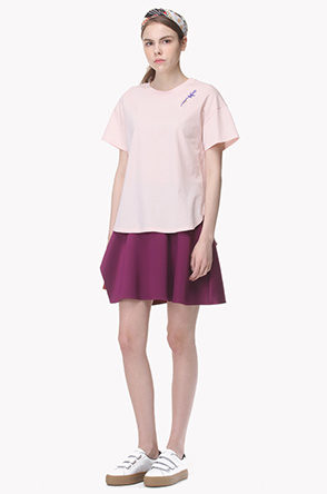 Embroidery eyelet T shirt