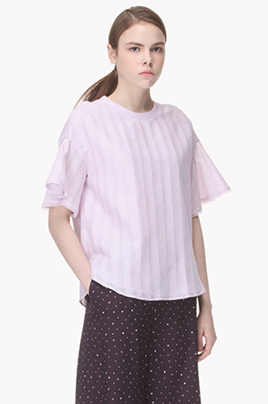 Flare short sleeves blouse