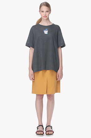 [20th]Loose fitted nep T shirt