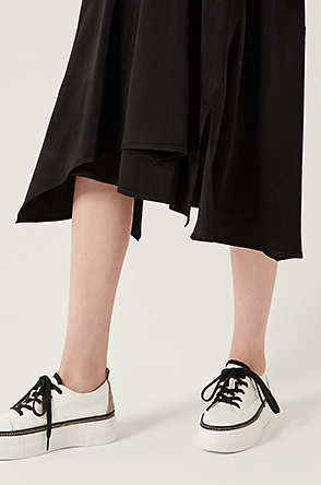 Split unbalanced skirt