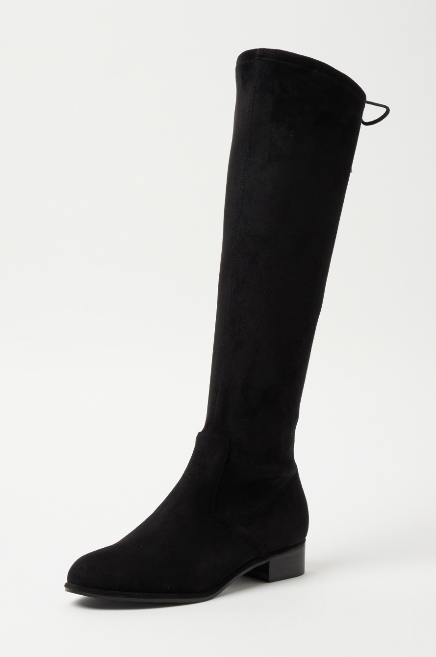 Strap suede boots