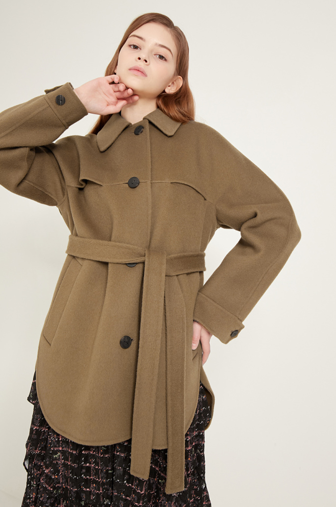 Handmade flap coat