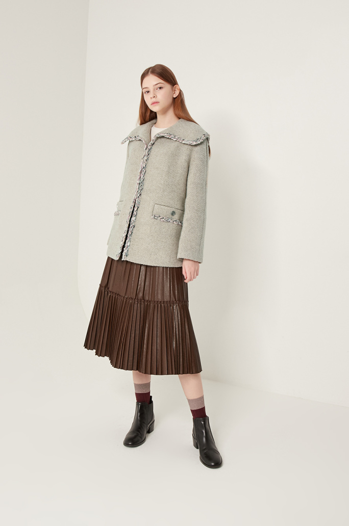 Sailor collar half coat