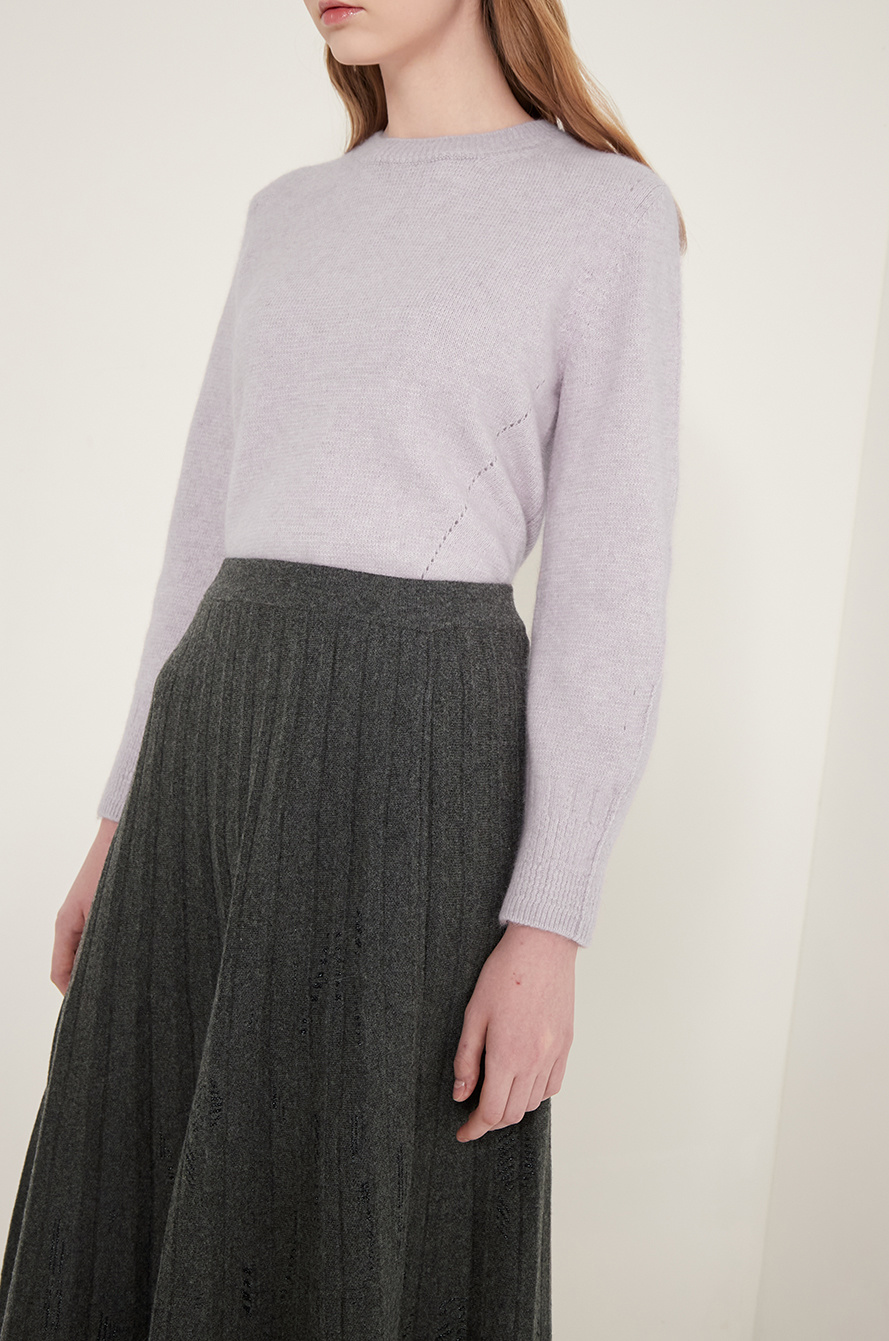 Pleats knit dress
