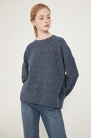 Mélange knit sweater