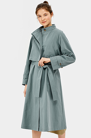 Waist string trench coat