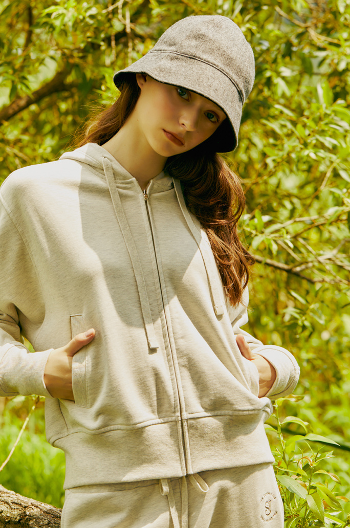 logo embroidery hooded jumper
