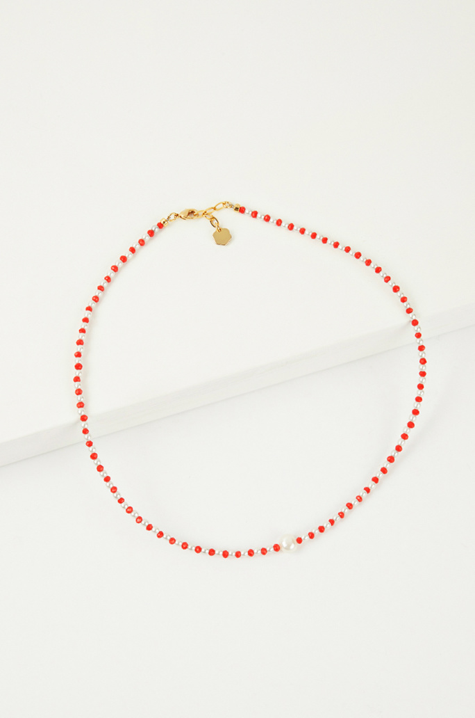 Two-tone beading necklace