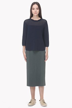 Whole garnent knit pencil skirt