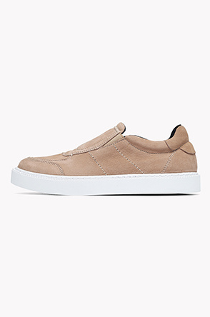 Lamb leather slip on sneakers