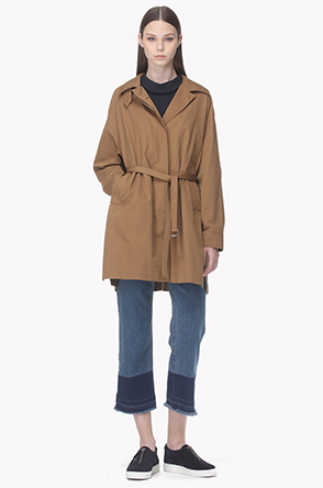Hidden ring belt tap point trench coat