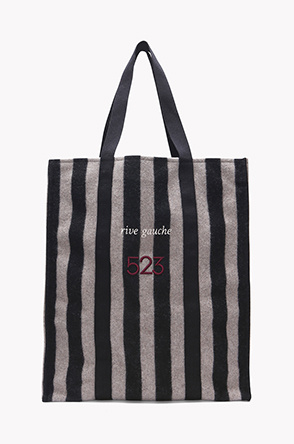 [SYSTEM2] Wool blend stripe tote bag