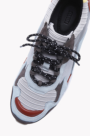 [SYSTEM2] Block pattern strap air sneakers