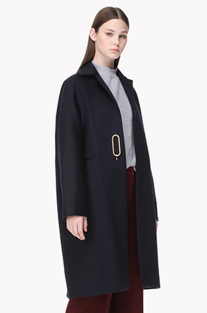 [SYSTEM0] Oval pin point lambswool blend coat