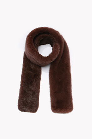 Mink and muskrat fur muffler