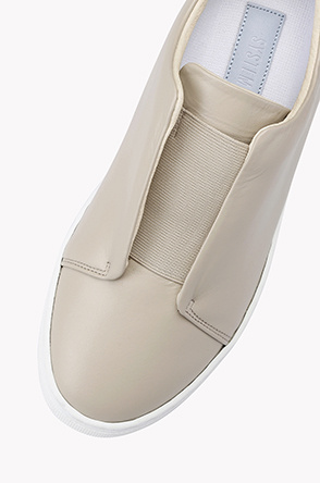 Cowhide slip on sneakers