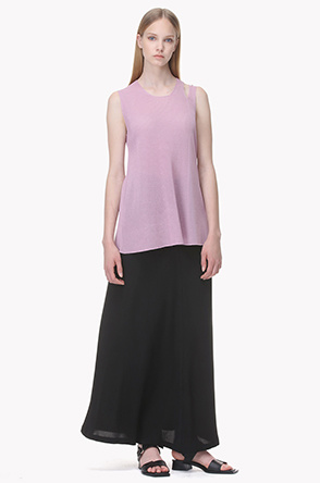 [SYSTEM2] A line sleeveless knit top