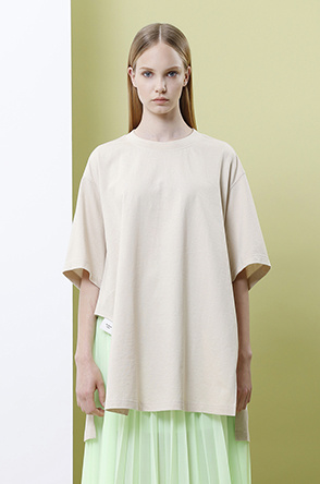 [SYSTEM2] Printed oversized T shirt