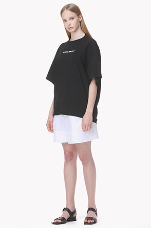 [SYSTEM2] Two hole oversized T shirt