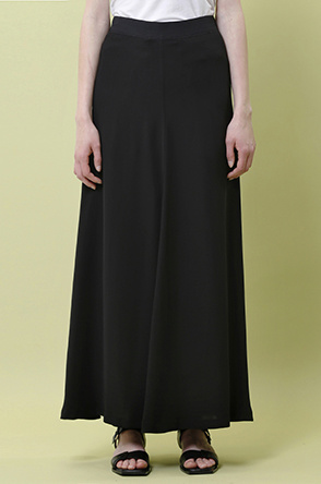 [SYSTEM2] Silky maxi flared skirt