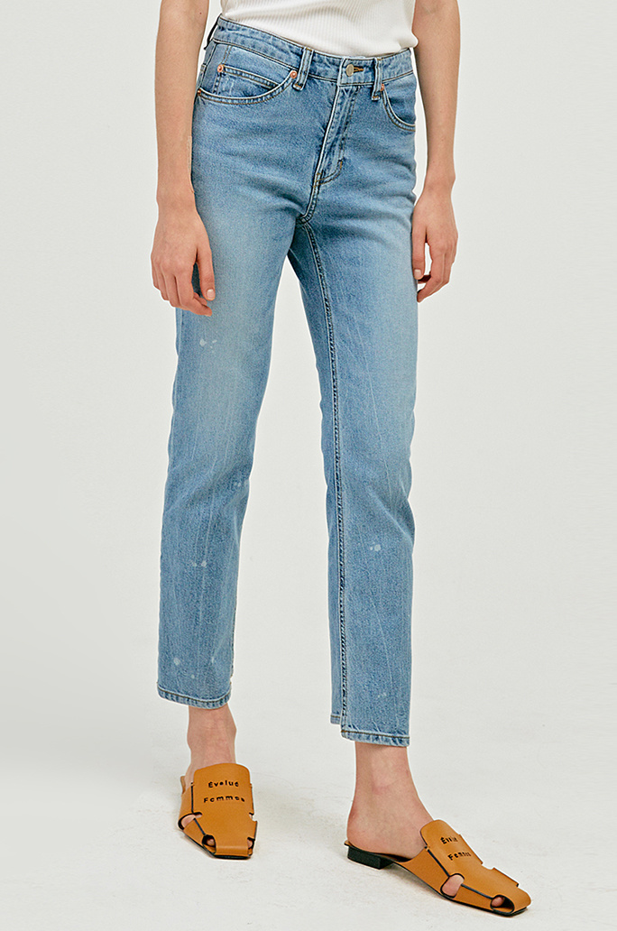[SYSTEM2] HIGHRISE SISTER ANKLE STRAIGHT JEANS