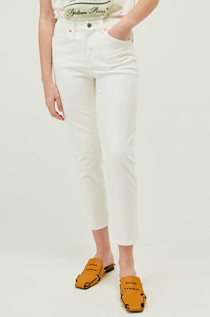 HIGHRISE SISTER ANKLE STRAIGHT JEANS