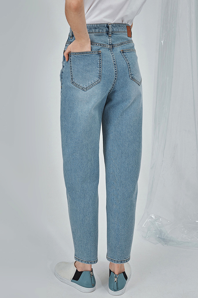 [SYSTEM2] HIGHRISE MOMMY LOVE STRAIGHT JEANS
