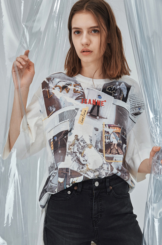 [SYSTEM2] COLLAGE PRINT T SHIRT