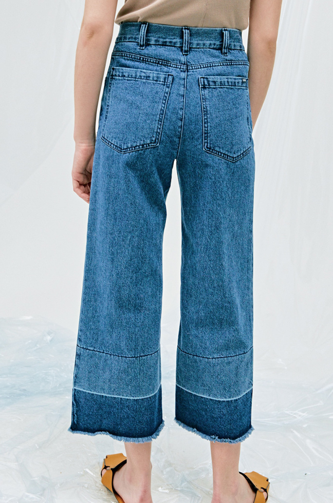 [SYSTEM2] 90'S HIGHRISE ROLLER CHEW CROP JEANS