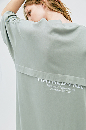 [SYSTEM2] LETTERING T SHIRT DRESS