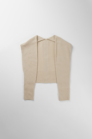 Embroidered cardigan knit muffler