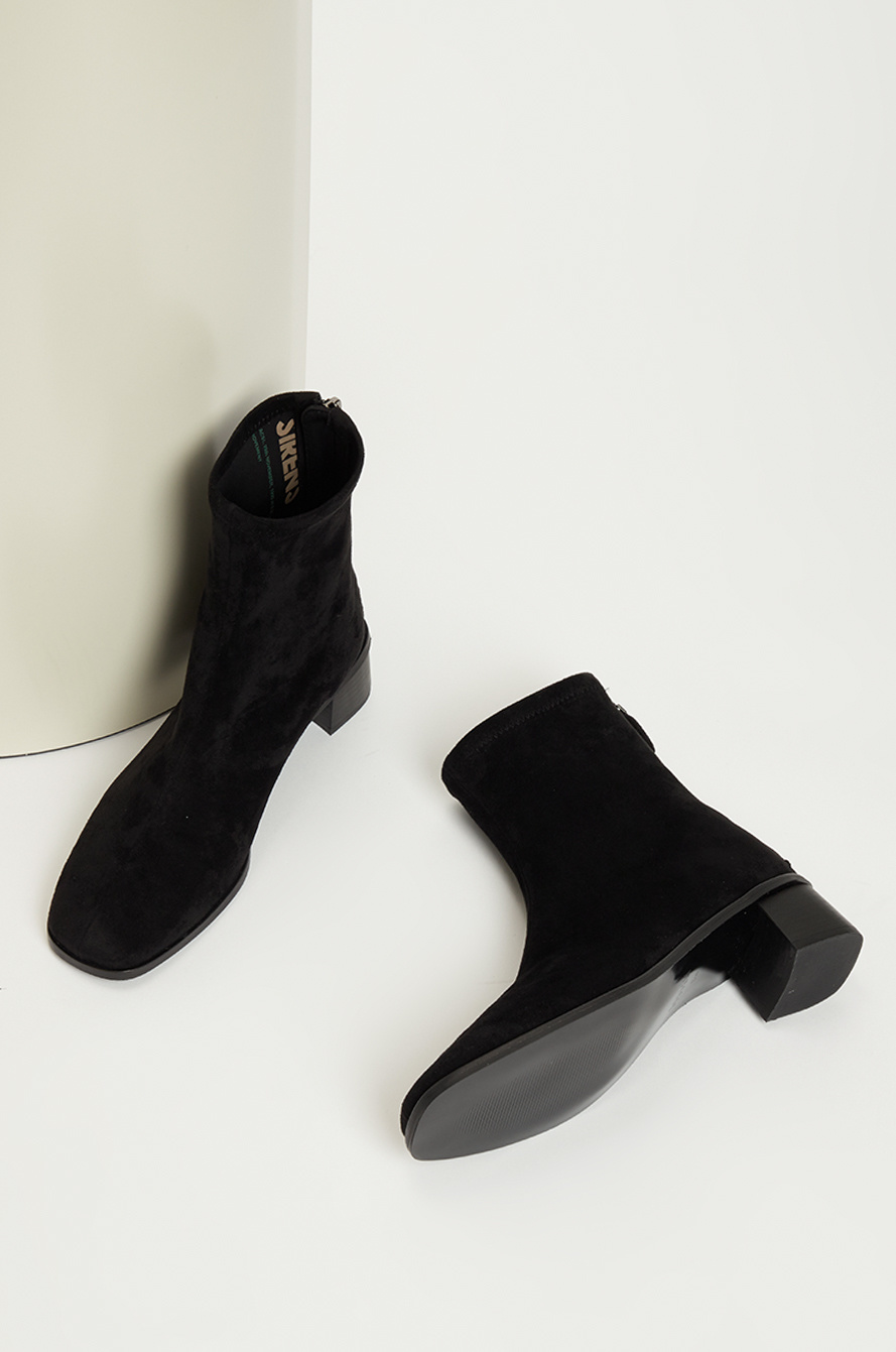 Suede ankle socks boots