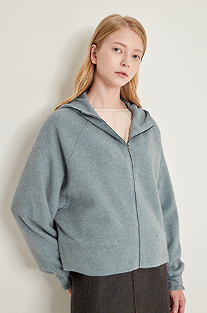 Hood knit jumper