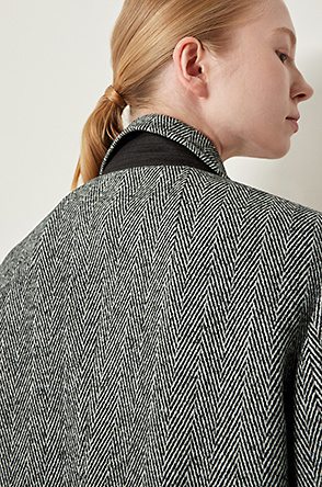 Herringbone single jacket