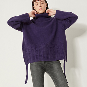 Cable block  knit sweater