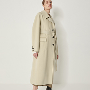 Belted double coat