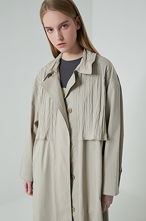 Crinkle blend trench coat