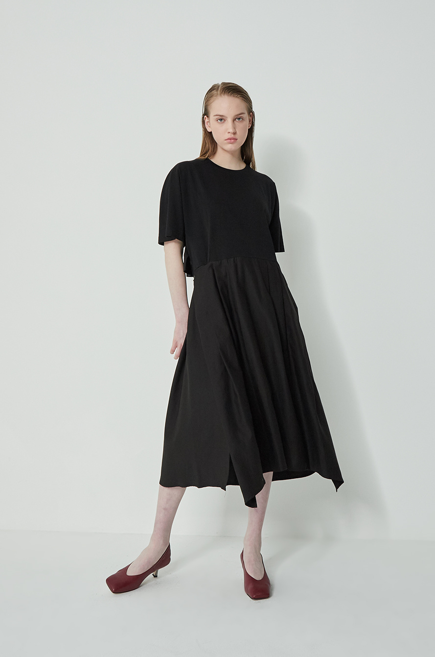 Layered block dress