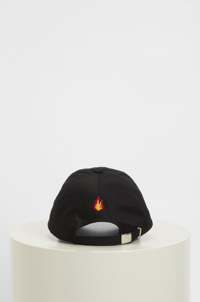 fire embroidered cap