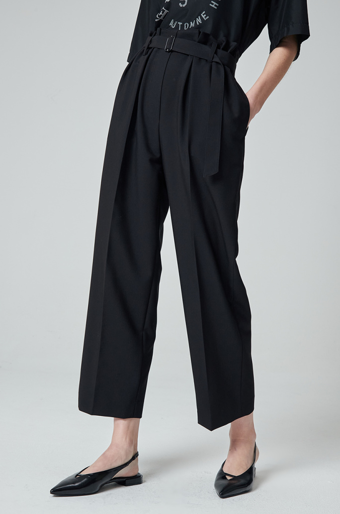 belted banding pants